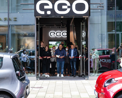 Opening of an iconic e.GO Brand Store in Hamburg, Germany