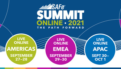 La Cumbre Global SAFe 2021 de dos días se llevará a cabo en línea en tres zonas horarias: las Américas, Europa y Asia.